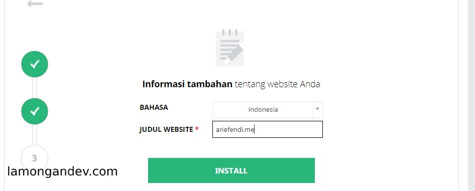 10 Menit membangun sebuah website Siap pakai -lamongandev.com